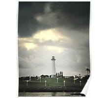Lions Lighthouse Poster