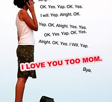 On the Phone with Mom * Printable Mother's Day Card * by d-zine