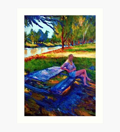 By The River Art Print