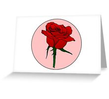 Retro Rose Greeting Card