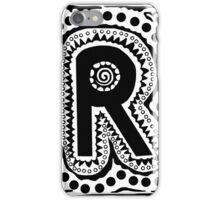 Initial R Black and White iPhone Case/Skin