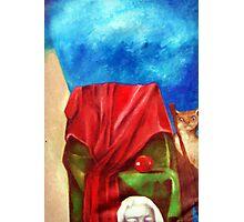 Cat & Chair Photographic Print
