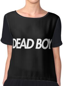 Dead Boy in White (Bones TeamSesh Sesh) Chiffon Top