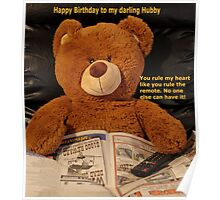 Remote love Teddy Poster