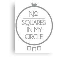 No Squares Yankee Gray  Canvas Print