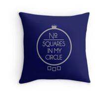 No Squares Yankee Gray  Throw Pillow