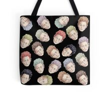 Colorful Tilda Heads Tote Bag