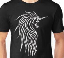 Unicorn - white on dark Unisex T-Shirt