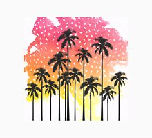 Retro 80's Summer Palm Trees Geometric Triangles Unisex T-Shirt