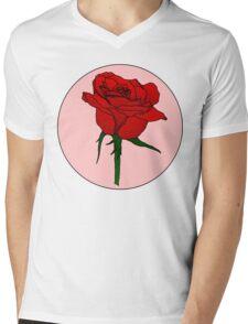 Retro Rose Mens V-Neck T-Shirt