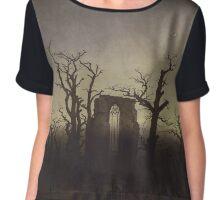 Spooky Landscape Chiffon Top
