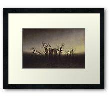 Spooky Landscape Framed Print