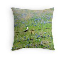 Little Birds & Bluebonnets Throw Pillow Throw Pillow