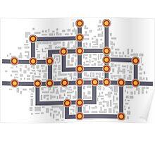 Subway map Poster