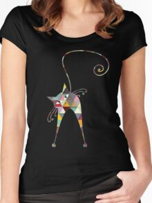 COLORFUL CATS Women's Fitted Scoop T-Shirt