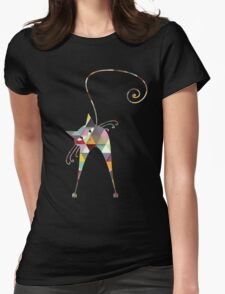 COLORFUL CATS Womens Fitted T-Shirt