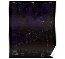 USGS TOPO Map Alabama AL Orange Beach 20110930 TM Inverted Poster