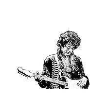 sketch of Hendrix Photographic Print