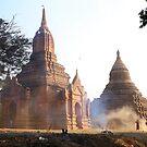 Morning Sweep at Bagan Temple by Nicole Shea
