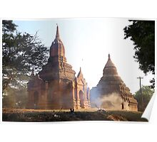 Morning Sweep at Bagan Temple Poster