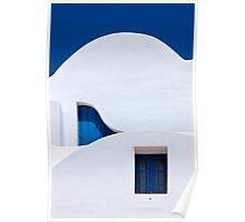 Different wavelengths - Santorini island Poster