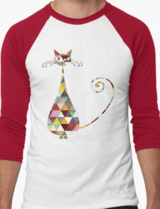 COLORFUL  CAT Men's Baseball ¾ T-Shirt