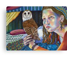 Tam and the Owl Canvas Print