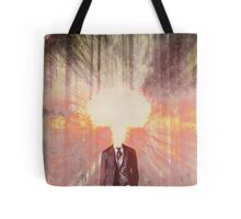 Headless exploding man, in the forest Tote Bag