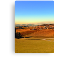 Picturesque panorama of countryside life | landscape photography Canvas Print