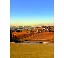 Picturesque panorama of countryside life | landscape photography Photographic Print