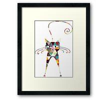 COLORFUL  CAT Framed Print