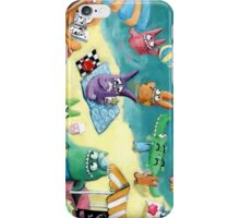 Monster Summer Time on the Beach iPhone Case/Skin