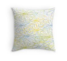 Simple line flower - outlines Throw Pillow