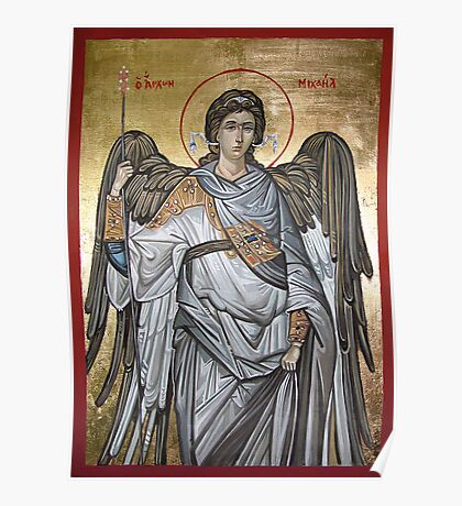 Archangel Michael - Eastern Orthodox icon Poster