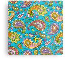 Happy Paisley Metal Print