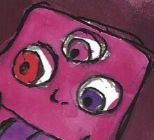 Garnet - Three Eyes Sticker