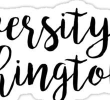 University of Washington/UW Sticker