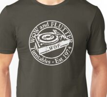 Wow & Flutter Turntables T-Shirt & Bags - Worn Well Unisex T-Shirt