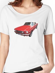 Red Ford Mustang Convertible Women's Relaxed Fit T-Shirt