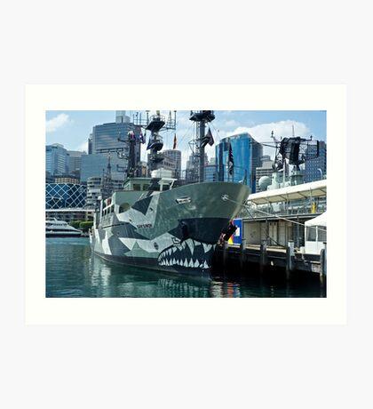 Armed to the teeth: Darling Harbour Art Print