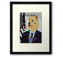 Doge you can believe in - Obama Election Doge Framed Print