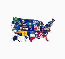 Map of States By Flag Unisex T-Shirt