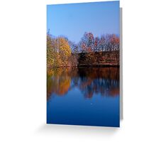 Indian summer reflections at the pond | waterscape photography Greeting Card