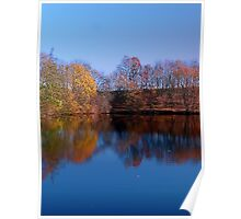 Indian summer reflections at the pond | waterscape photography Poster