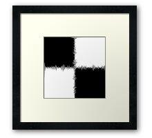 QUARTERS-1 (Black & White)-(9000 x 9000 px) Framed Print