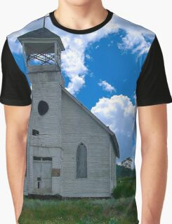 Old Church Under Colorado Skies Graphic T-Shirt