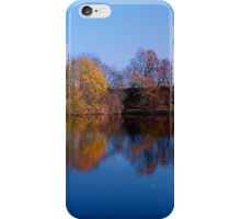 Indian summer reflections at the pond | waterscape photography iPhone Case/Skin