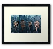 Charging Knights Framed Print