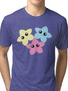 3 Kawaii Stars Tri-blend T-Shirt