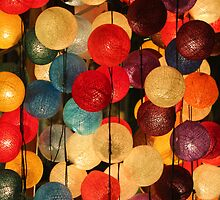 Colorful light balls by PerkyBeans
